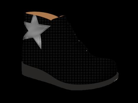 S1502 Black Fantasy Patent Velcro