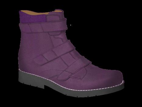 L122 Violet Leather Velcro