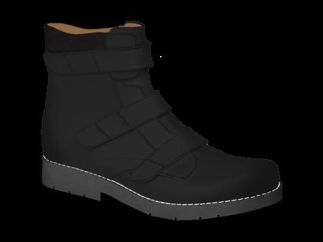 R502/7 Black Aniline Velcro