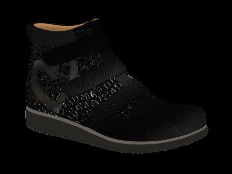 L1672 Black Aniline Fantasy Velcro