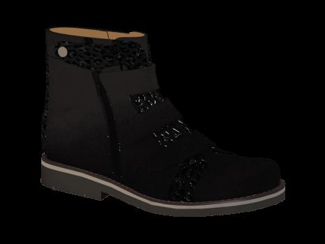 N302/2 Black Nubuck Combi Velcro
