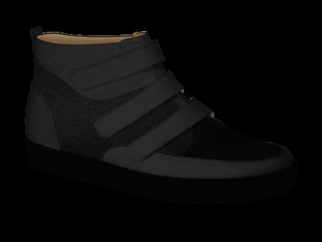R502/1 Black Aniline Combi Velcro