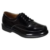 F1602 Black Polished Leather Lace