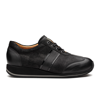 L1602/11 Black Fantasy Leather Combi