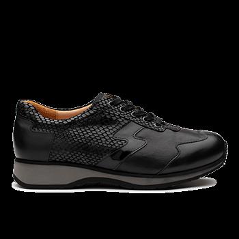 L1602/18 Black Fantasy Leather Combi