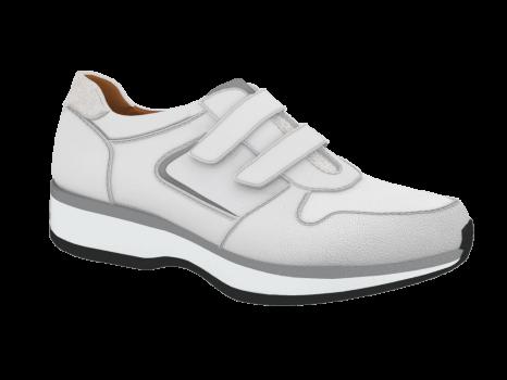 L1601/1 White Leather Combi