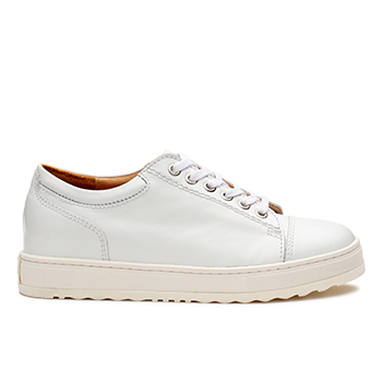 L1601/3 White Leather