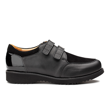 L1602 Black Leather Combi