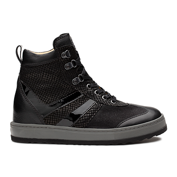L1672/4 Black Fantasy Leather Combi