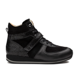 L1672 Black Fantasy Leather Combi