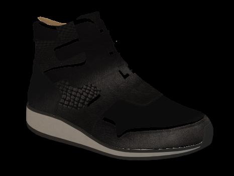 L1602/10 Black Fantasy Leather Combi