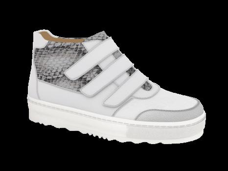 L1601/2 White Fantasy Leather Combi