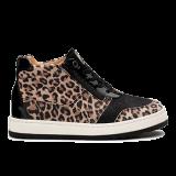 Y1872/1 Black Leopard Leather Combi