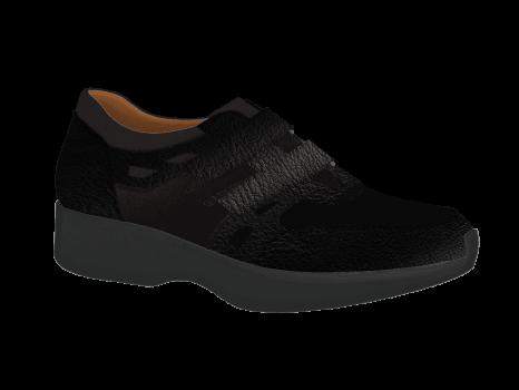 L1672/5 Black Leather Combi