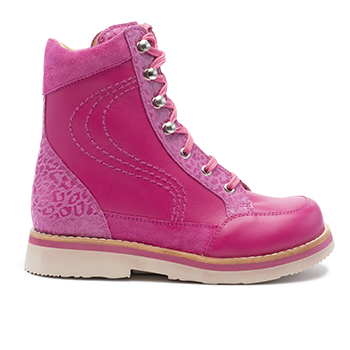 001 Fuchsia leather combi