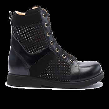 005 Black fantasy leather