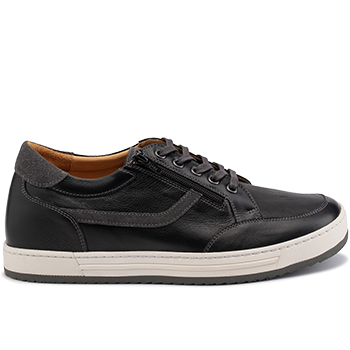 Walter - L1672/X852 leather black/grey combi