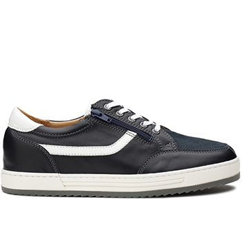 Walter - L1803/X1803 leather navy/white combi