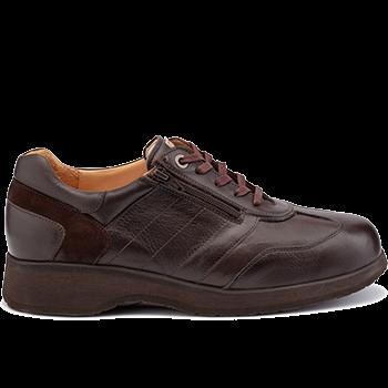 Dublin - L1674/X1874 leather dark brown combi