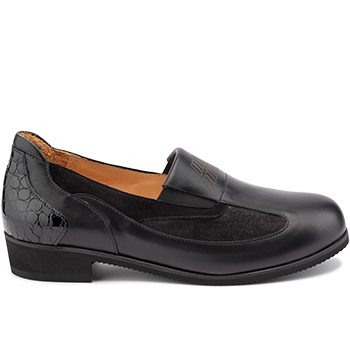 Michelle - L1602/X860 fantasy leather black combi