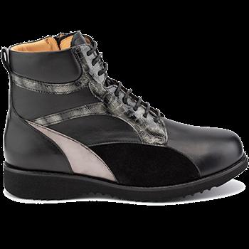 Martha - L1602/X872 fantasy leather black/grey combi