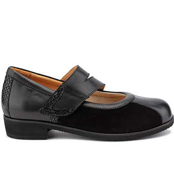 Marly - L1602/X872 fantasy leather black combi