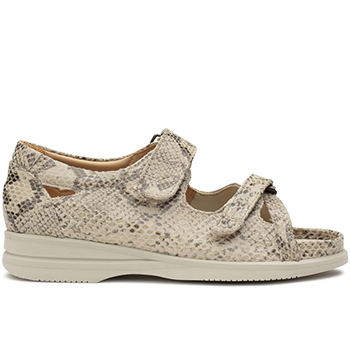 Theresa - S1814/S1814 fantasy lizzard leather beige